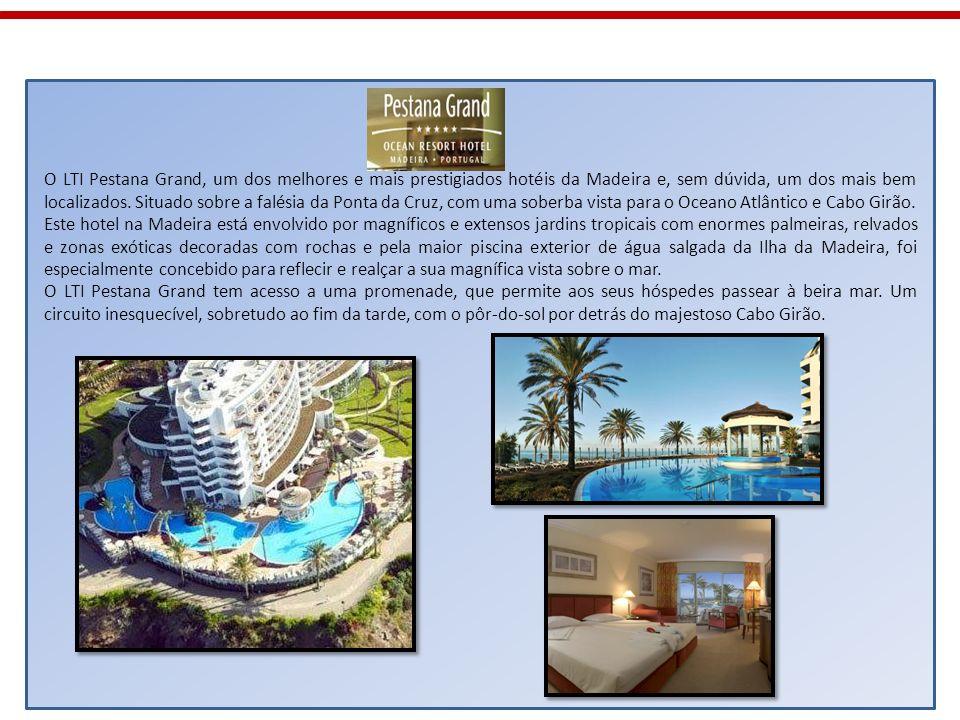 O LTI Pestana Grand, um dos melhores e mais prestigiados hotéis da Madeira e, sem dúvida, um dos mais bem localizados. Situado sobre a falésia da Ponta da Cruz, com uma soberba vista para o Oceano Atlântico e Cabo Girão.