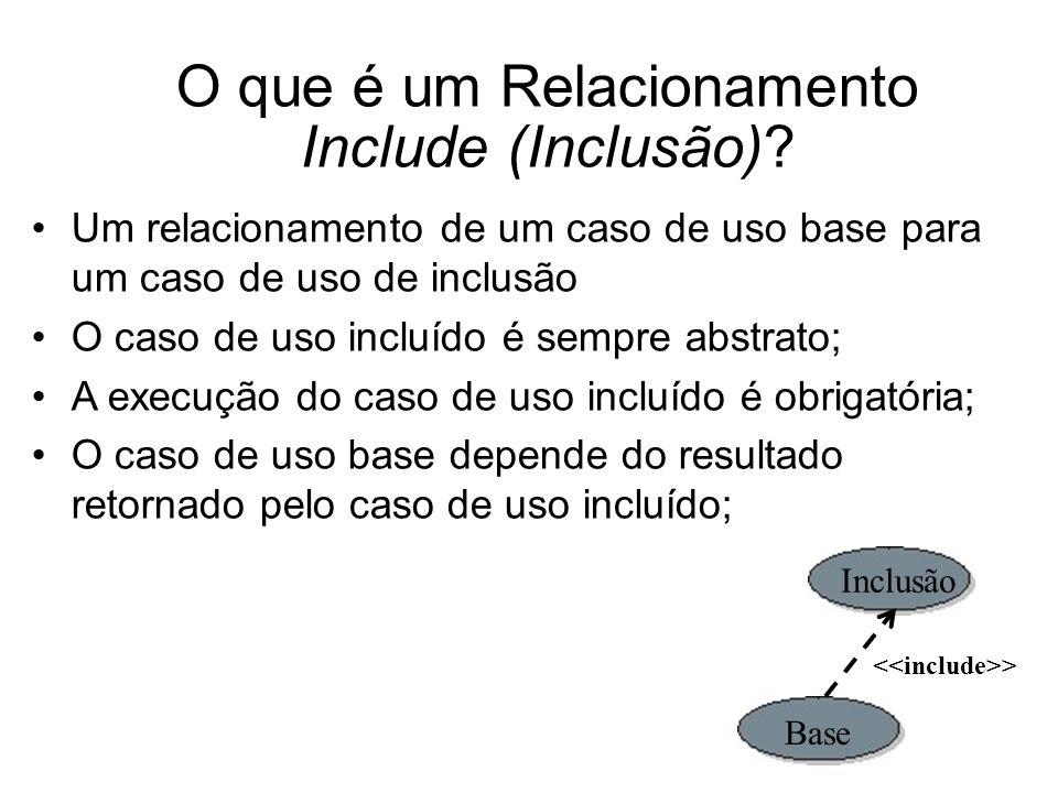 O que é um Relacionamento Include (Inclusão)