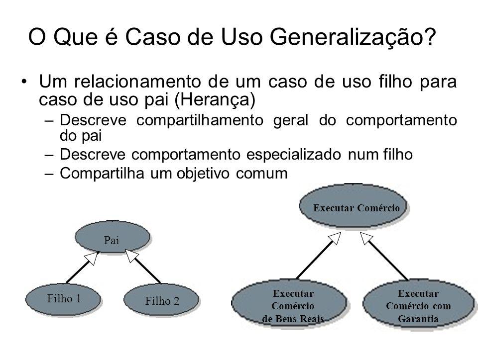 O Que é Caso de Uso Generalização