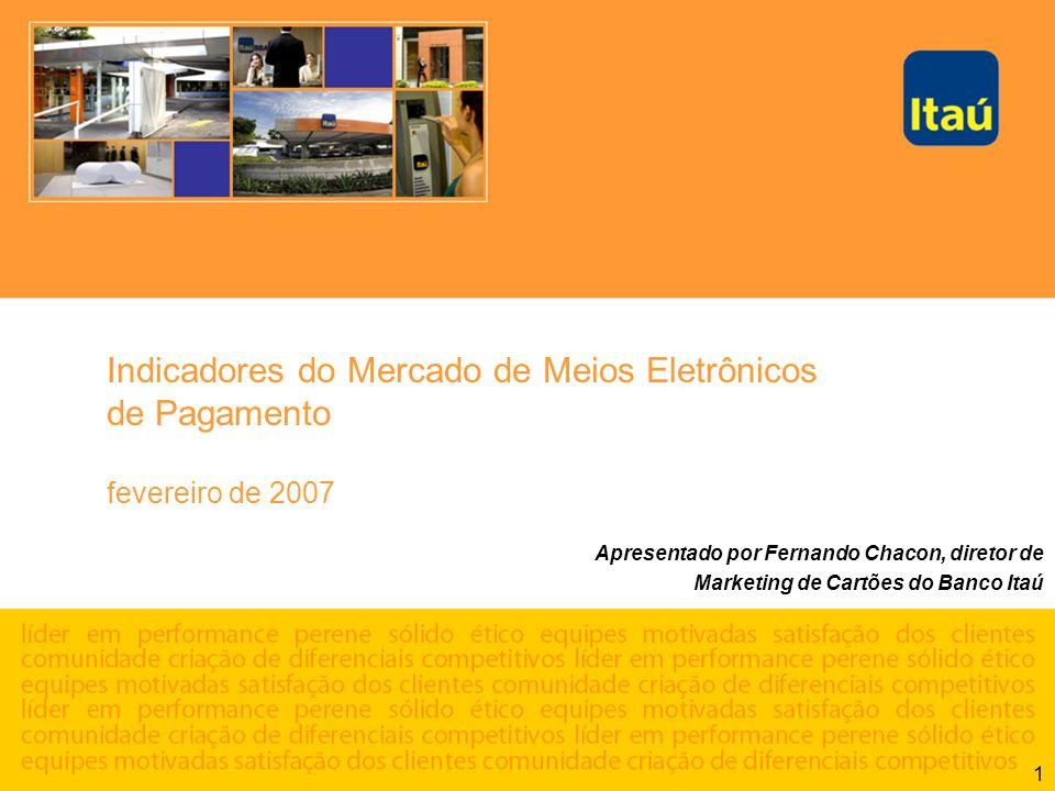 Indicadores do Mercado de Meios Eletrônicos de Pagamento