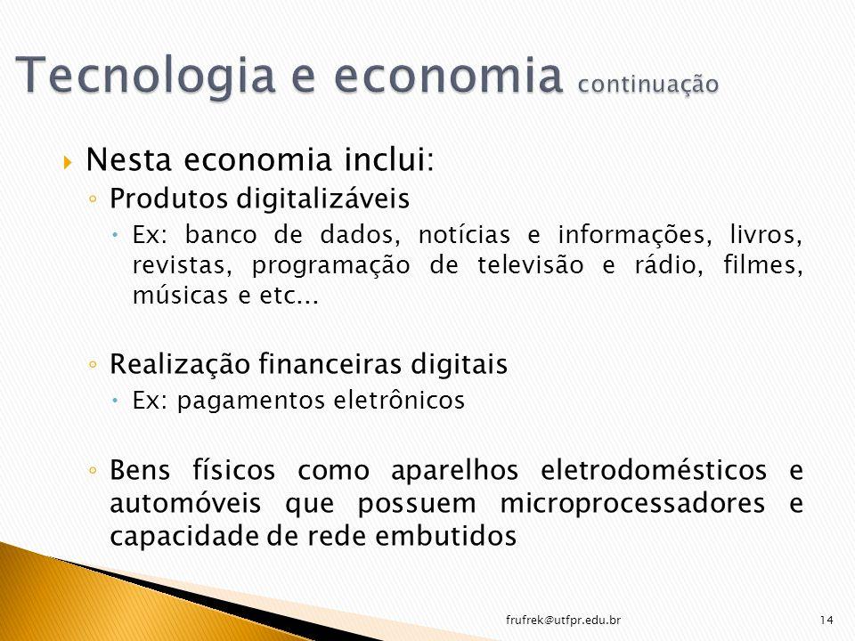 Tecnologia e economia continuação