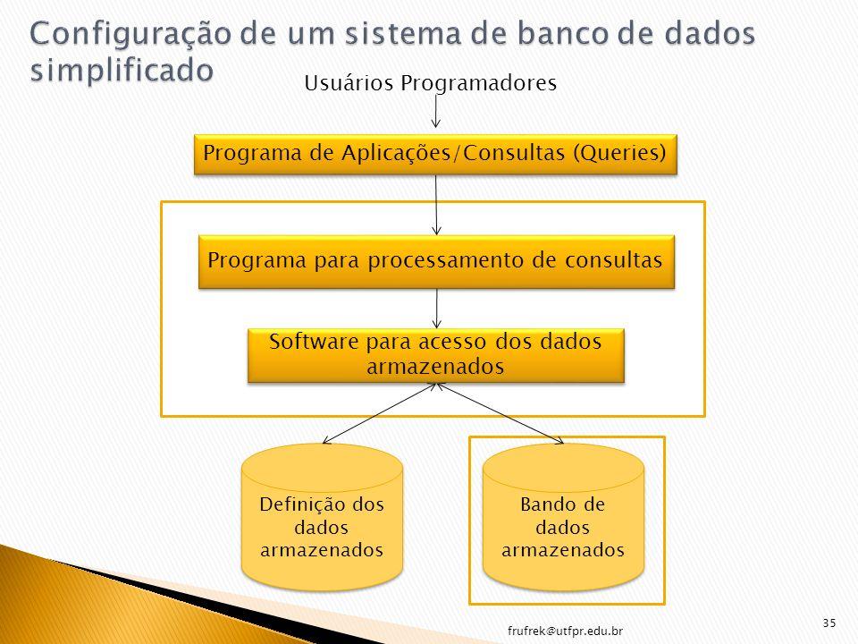 Configuração de um sistema de banco de dados simplificado