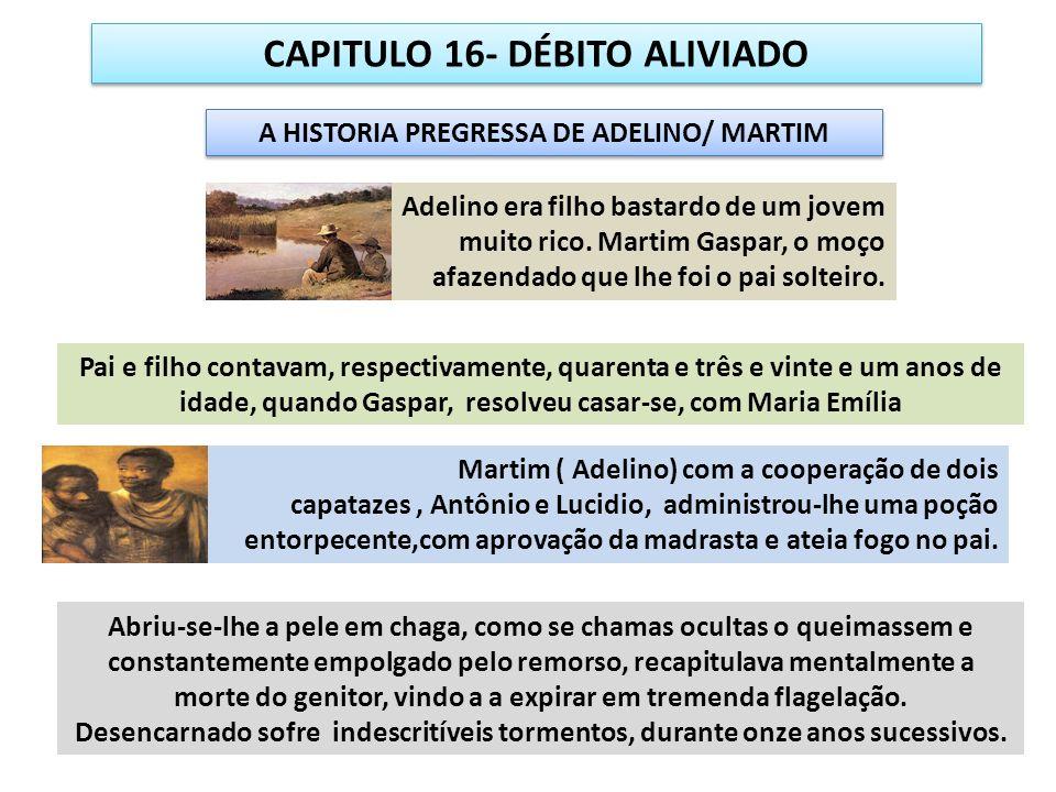 CAPITULO 16- DÉBITO ALIVIADO A HISTORIA PREGRESSA DE ADELINO/ MARTIM