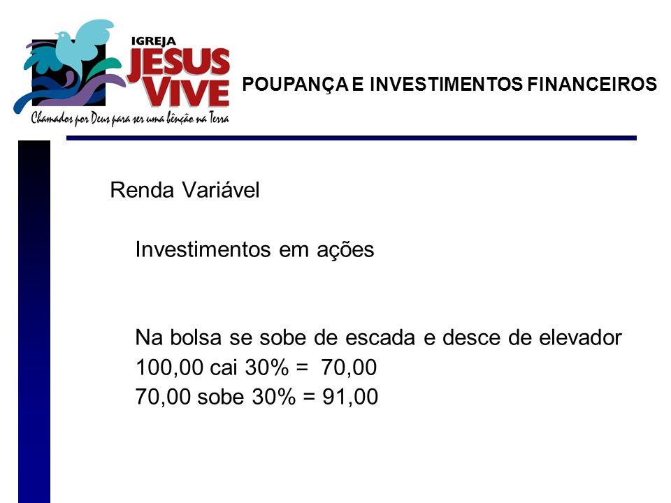 Investimentos em ações