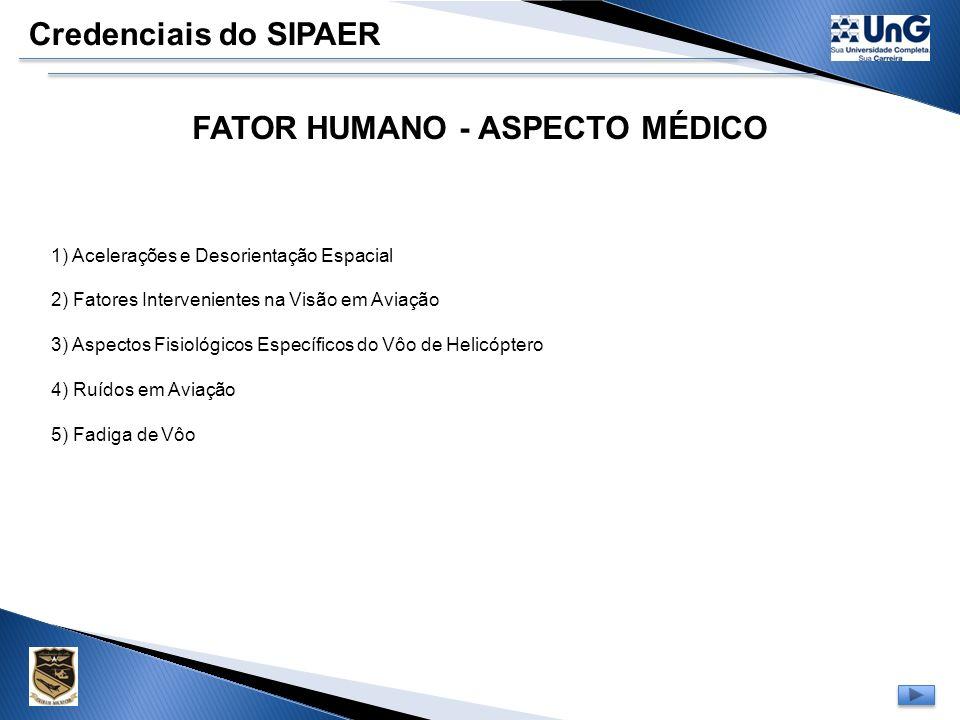 FATOR HUMANO - ASPECTO MÉDICO