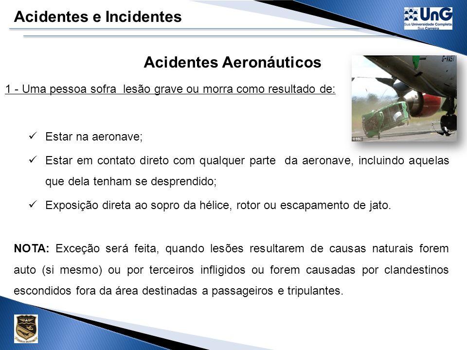 Acidentes Aeronáuticos