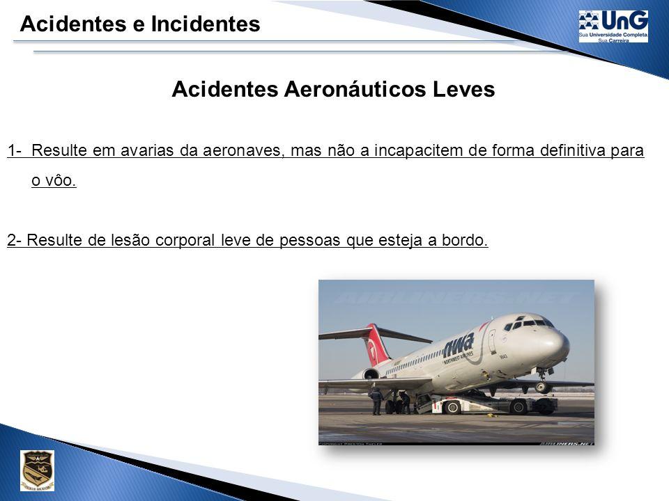 Acidentes Aeronáuticos Leves