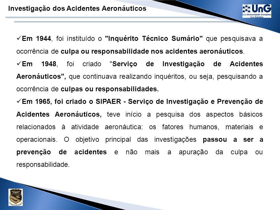 Investigação dos Acidentes Aeronáuticos