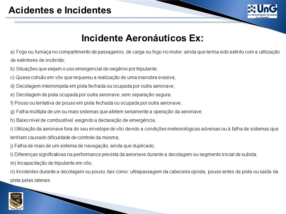 Incidente Aeronáuticos Ex: