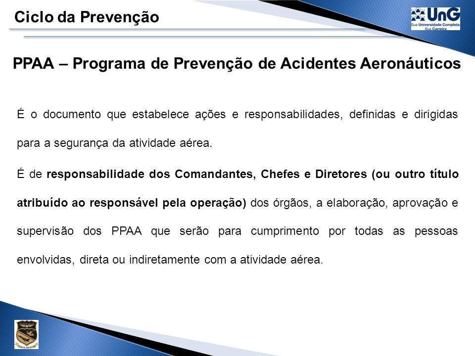 PPAA – Programa de Prevenção de Acidentes Aeronáuticos