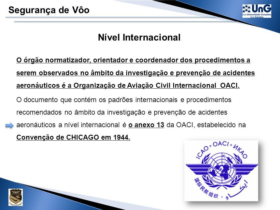 Segurança de Vôo Nível Internacional