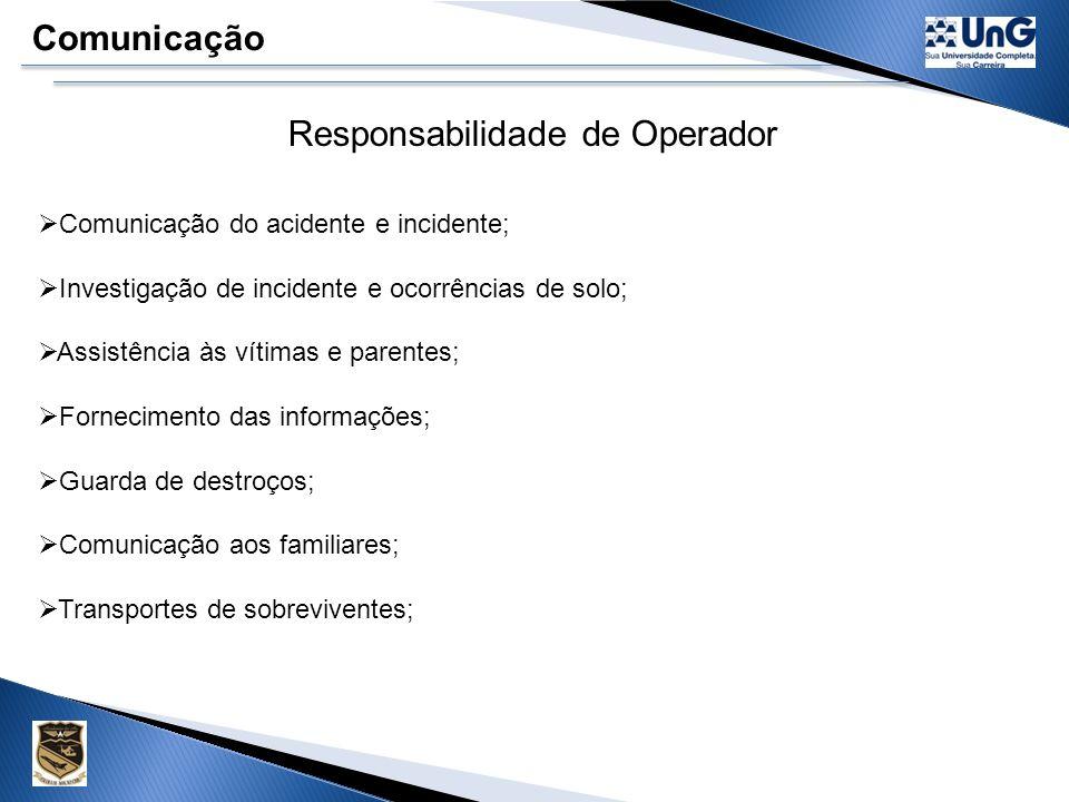 Responsabilidade de Operador
