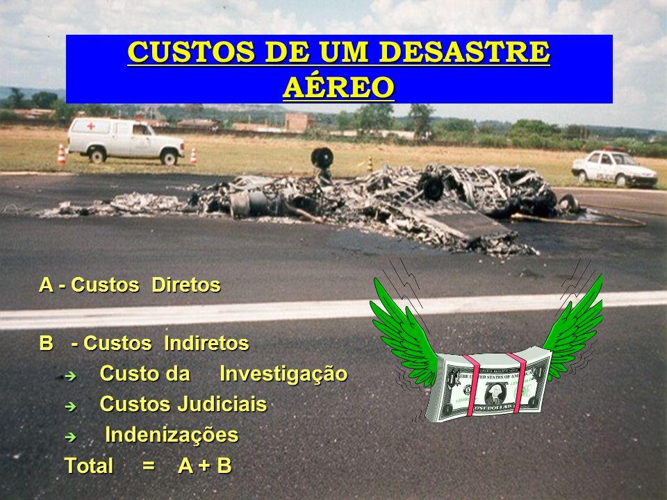 CUSTOS DE UM DESASTRE AÉREO