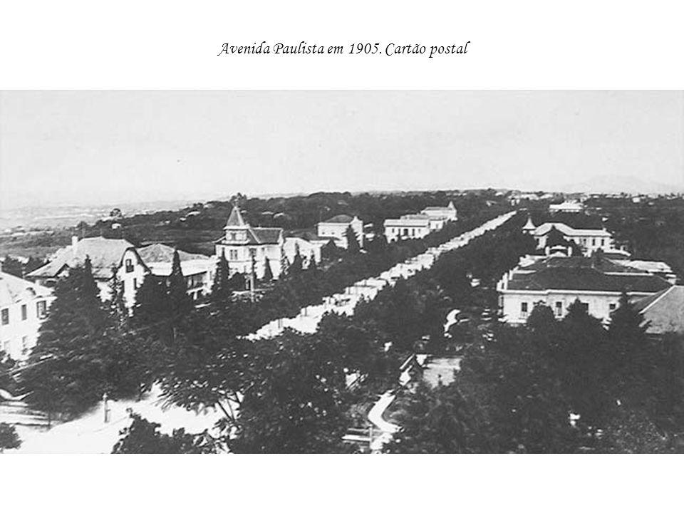 Avenida Paulista em 1905. Cartão postal