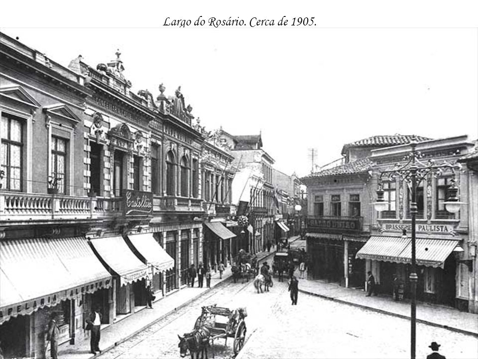 Largo do Rosário. Cerca de 1905.