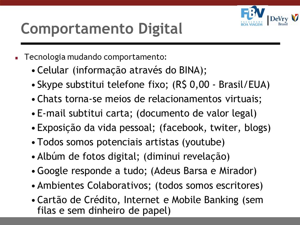 Comportamento Digital