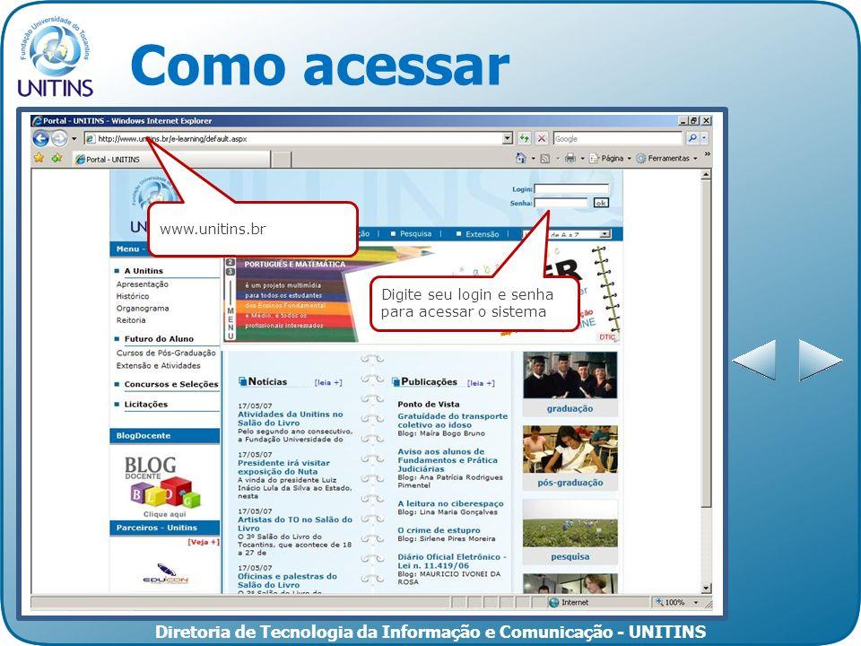 Como acessar www.unitins.br