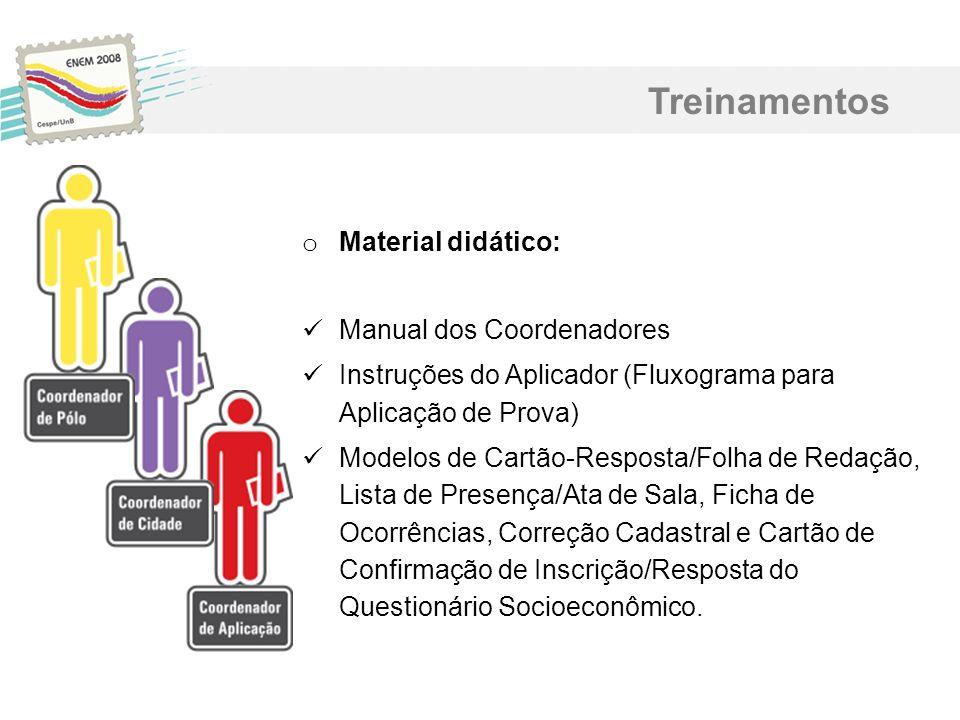 Treinamentos Material didático: Manual dos Coordenadores
