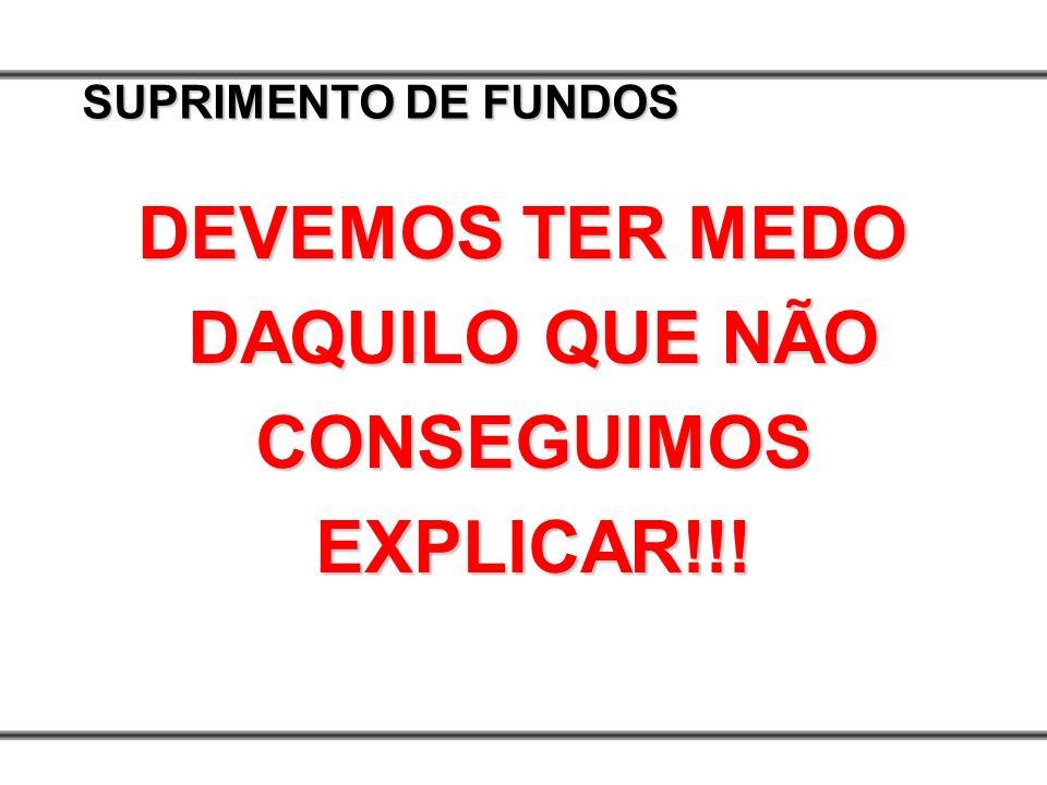 DEVEMOS TER MEDO DAQUILO QUE NÃO CONSEGUIMOS EXPLICAR!!!