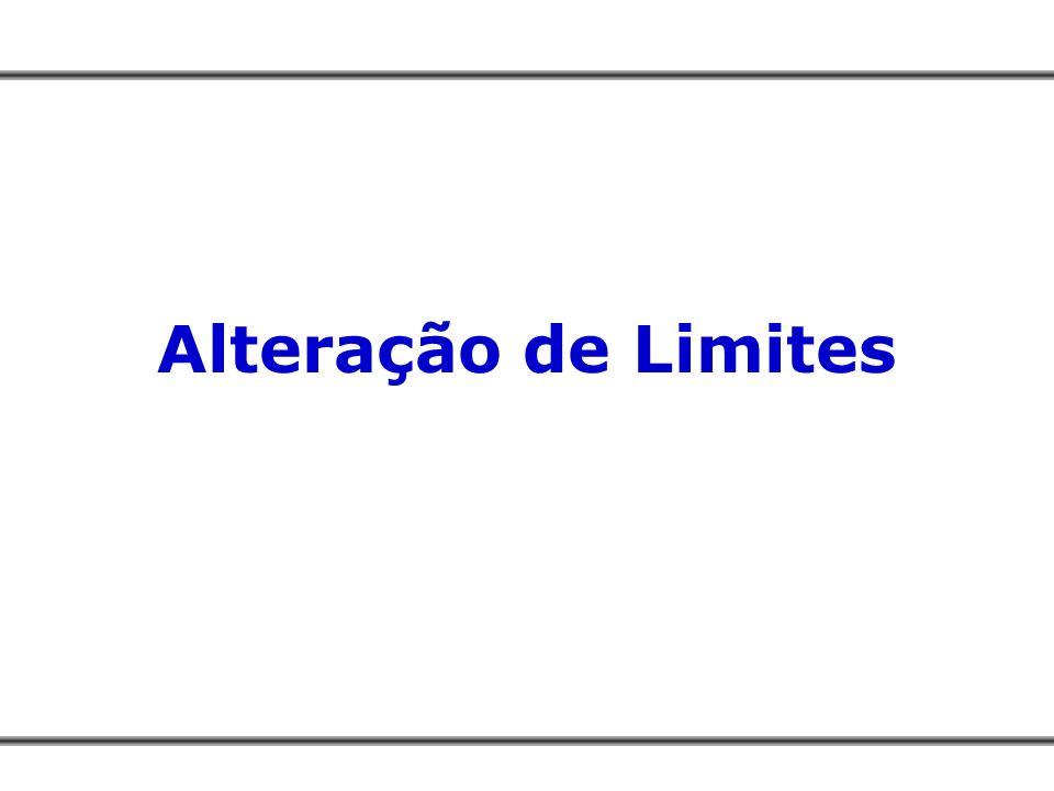 Alteração de Limites