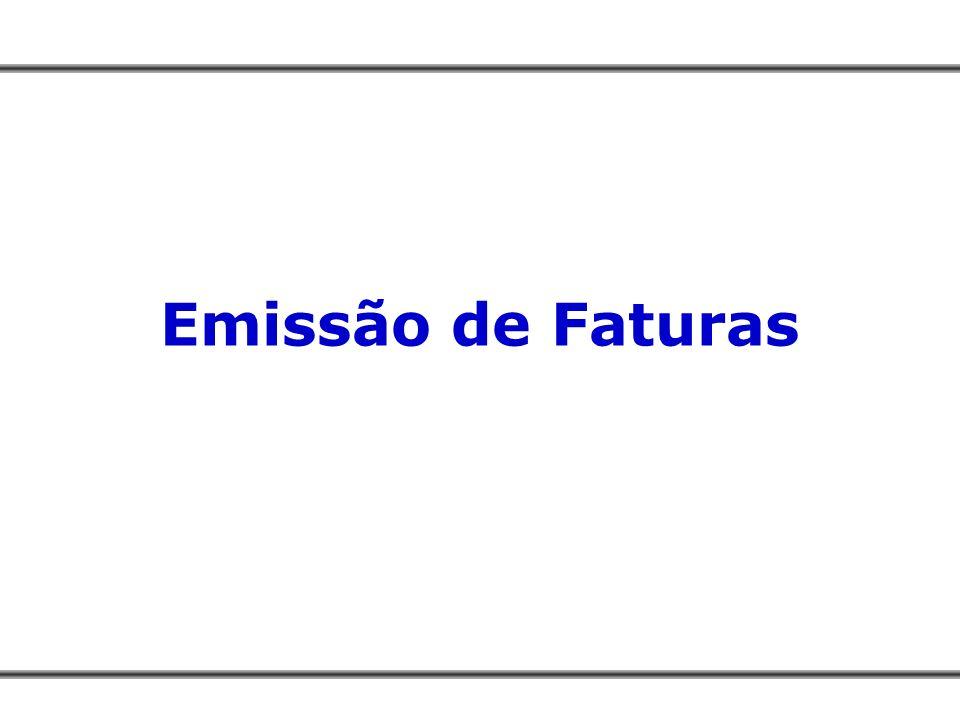 Emissão de Faturas