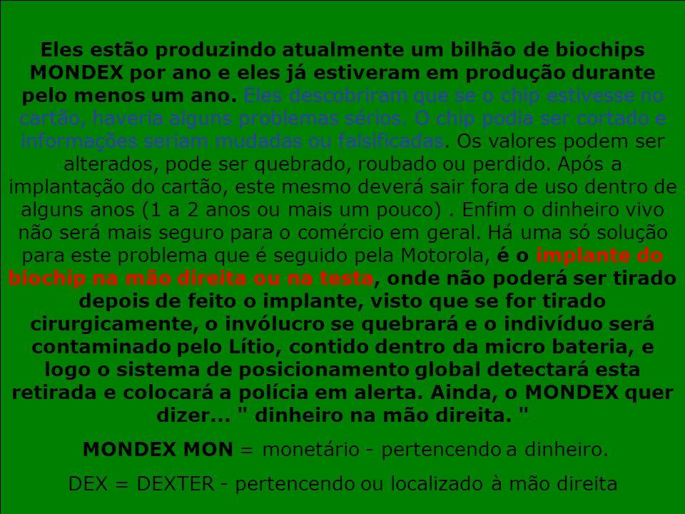 MONDEX MON = monetário - pertencendo a dinheiro.