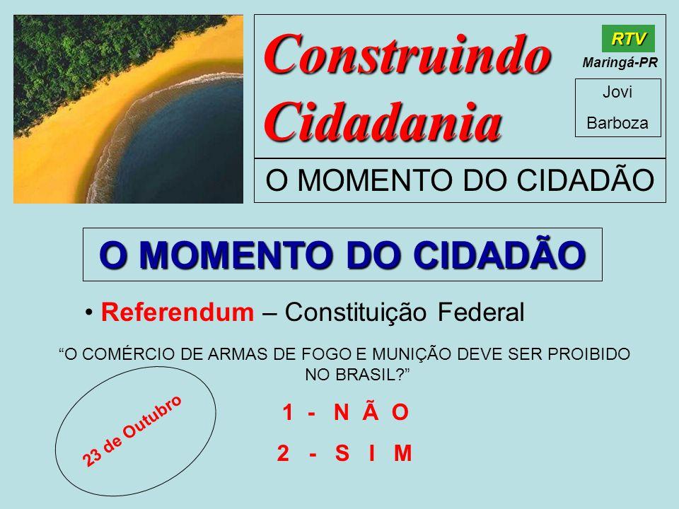 O COMÉRCIO DE ARMAS DE FOGO E MUNIÇÃO DEVE SER PROIBIDO NO BRASIL