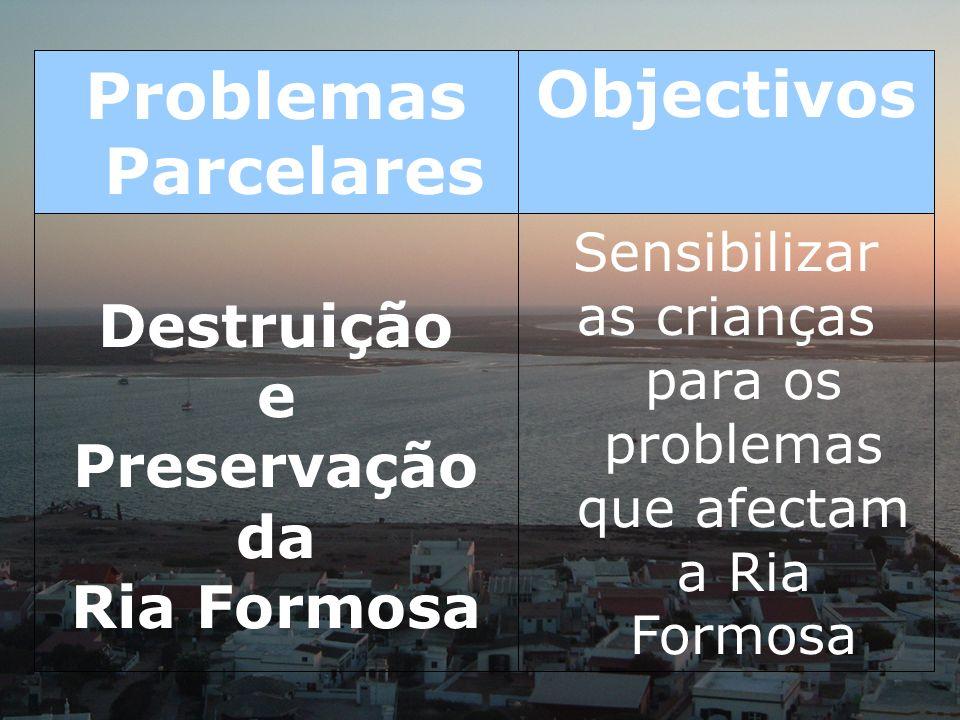 as crianças para os problemas que afectam a Ria Formosa