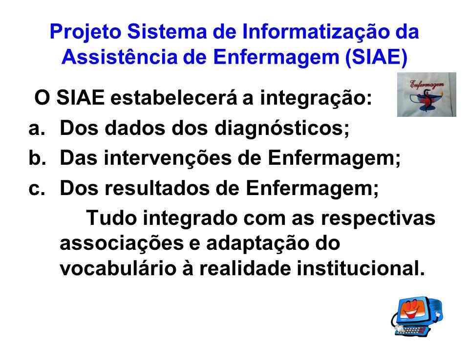 Projeto Sistema de Informatização da Assistência de Enfermagem (SIAE)