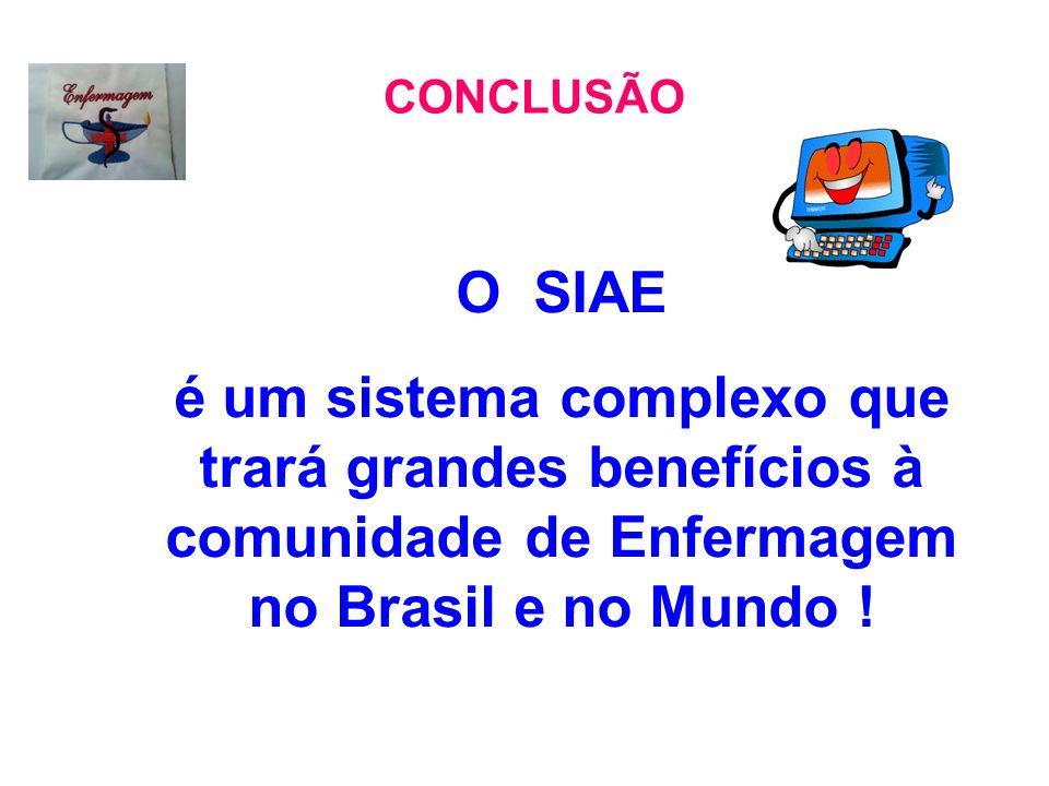 CONCLUSÃO O SIAE.