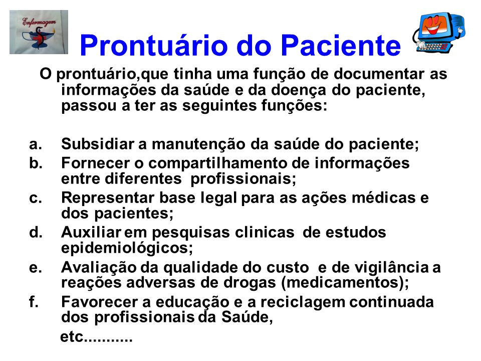 Prontuário do Paciente