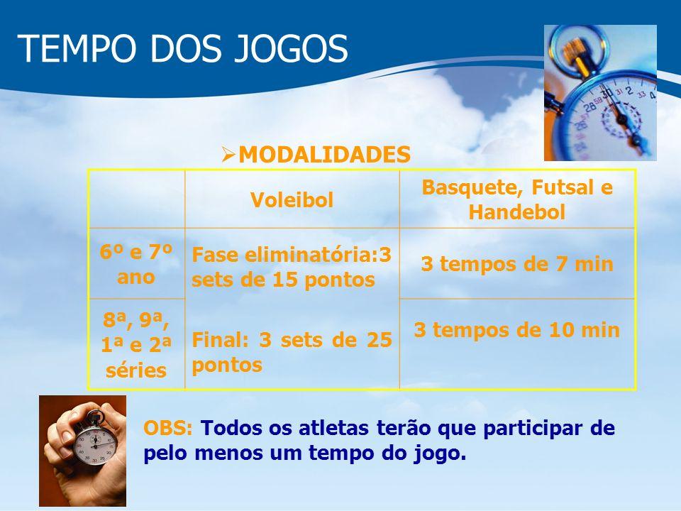 Basquete, Futsal e Handebol