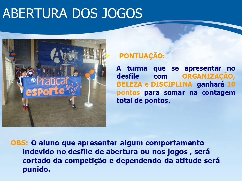 ABERTURA DOS JOGOS PONTUAÇÃO: