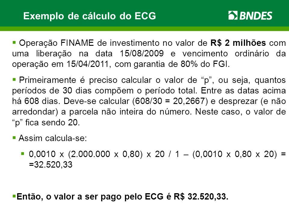 Exemplo de cálculo do ECG
