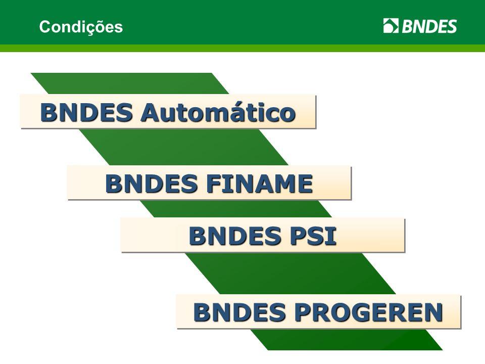 BNDES Automático BNDES FINAME BNDES PSI BNDES PROGEREN
