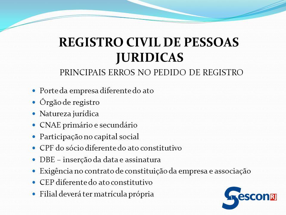 REGISTRO CIVIL DE PESSOAS JURIDICAS