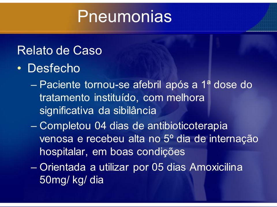 Pneumonias Relato de Caso Desfecho