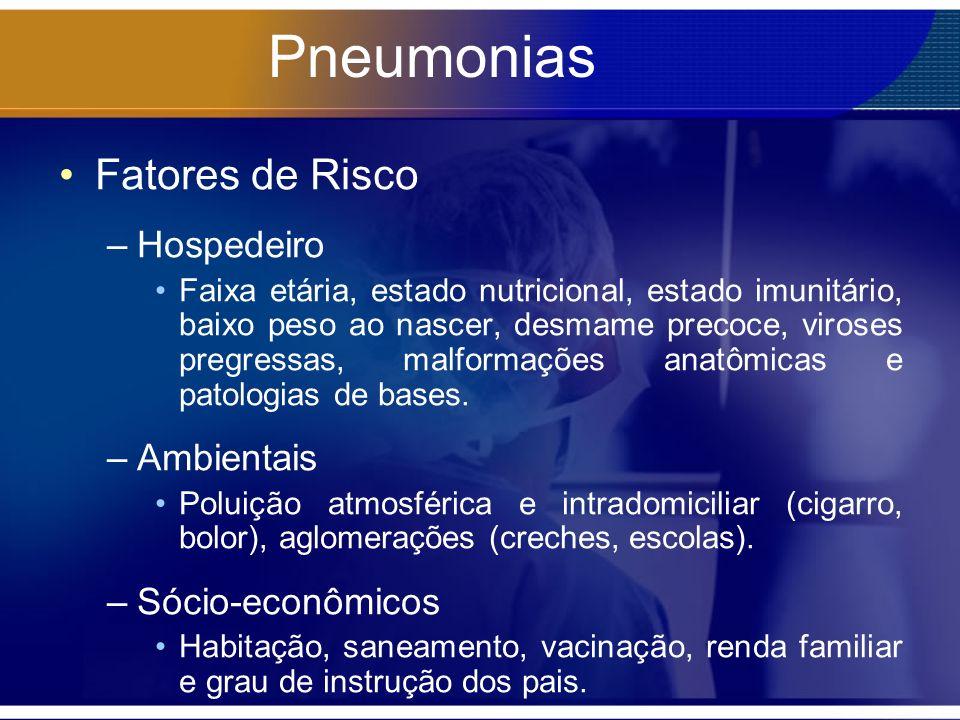 Pneumonias Fatores de Risco Hospedeiro Ambientais Sócio-econômicos