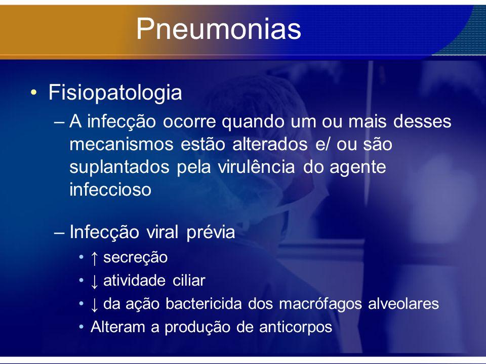 Pneumonias Fisiopatologia