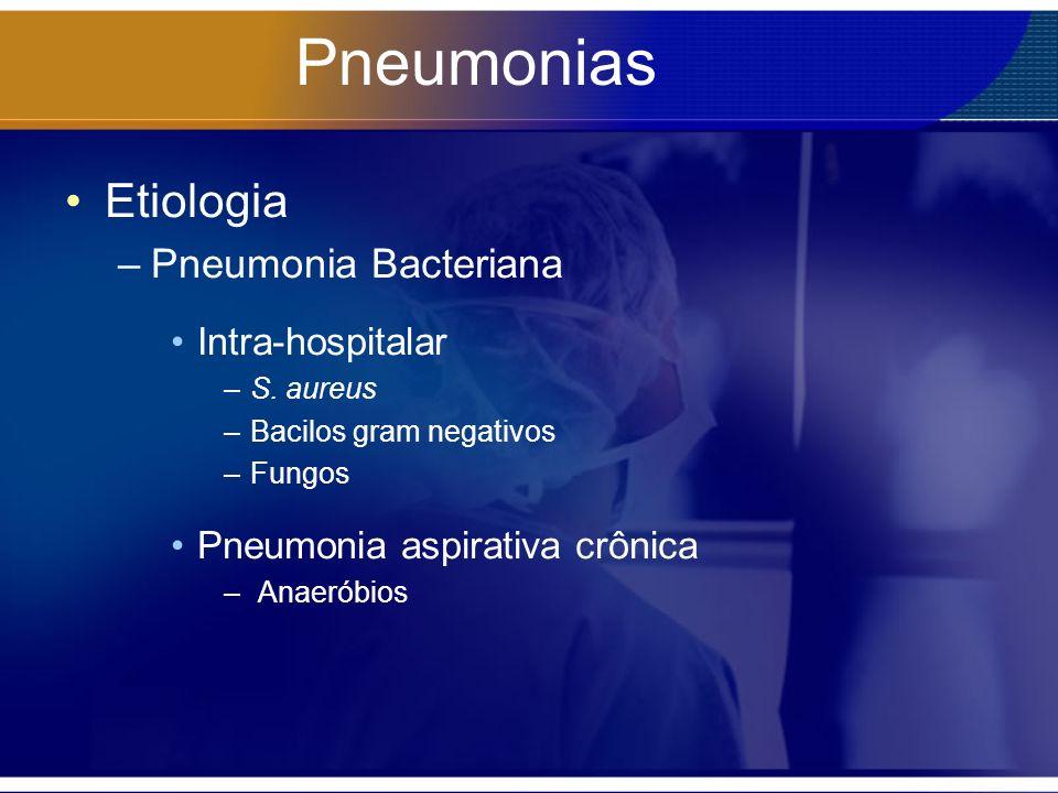 Pneumonias Etiologia Pneumonia Bacteriana Intra-hospitalar