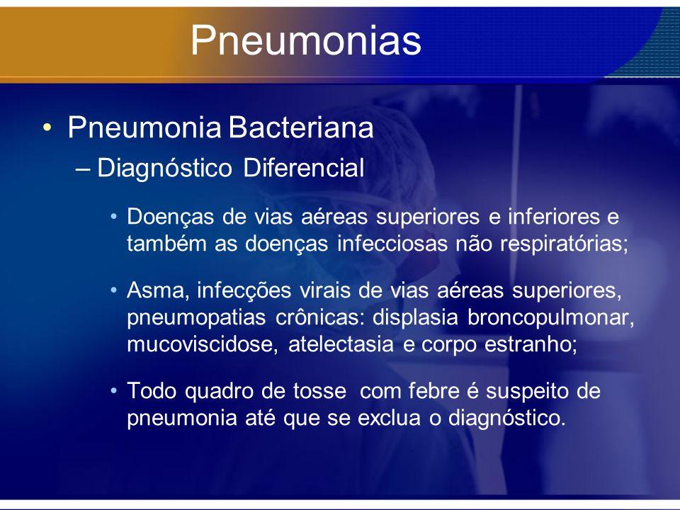 Pneumonias Pneumonia Bacteriana Diagnóstico Diferencial