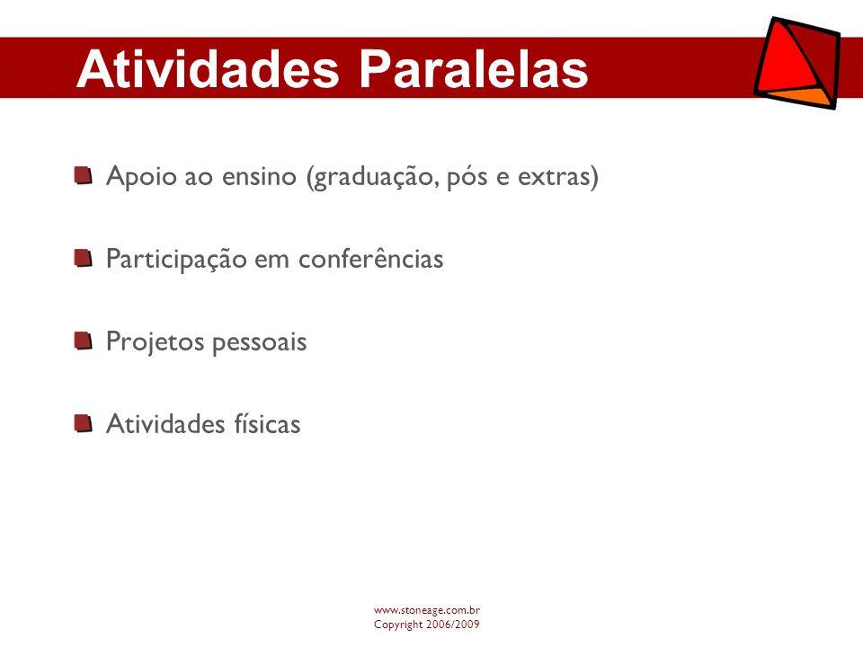Atividades Paralelas Apoio ao ensino (graduação, pós e extras)