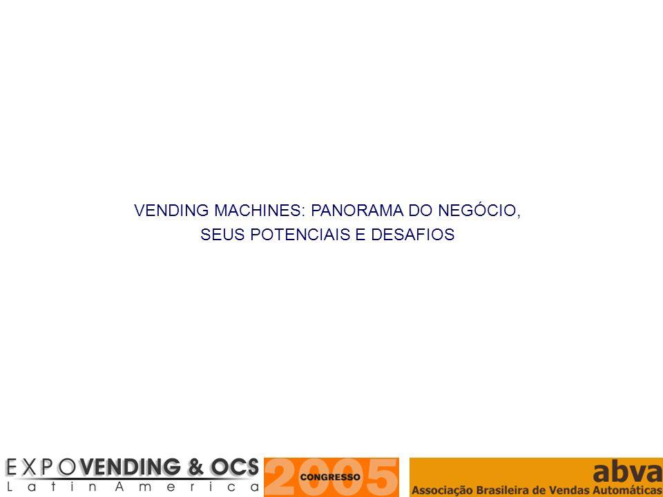 VENDING MACHINES: PANORAMA DO NEGÓCIO, SEUS POTENCIAIS E DESAFIOS
