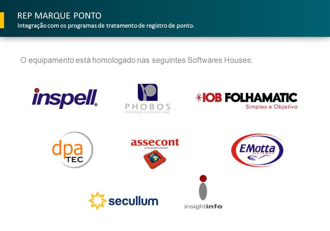 REP MARQUE PONTO Integração com os programas de tratamento de registro de ponto.