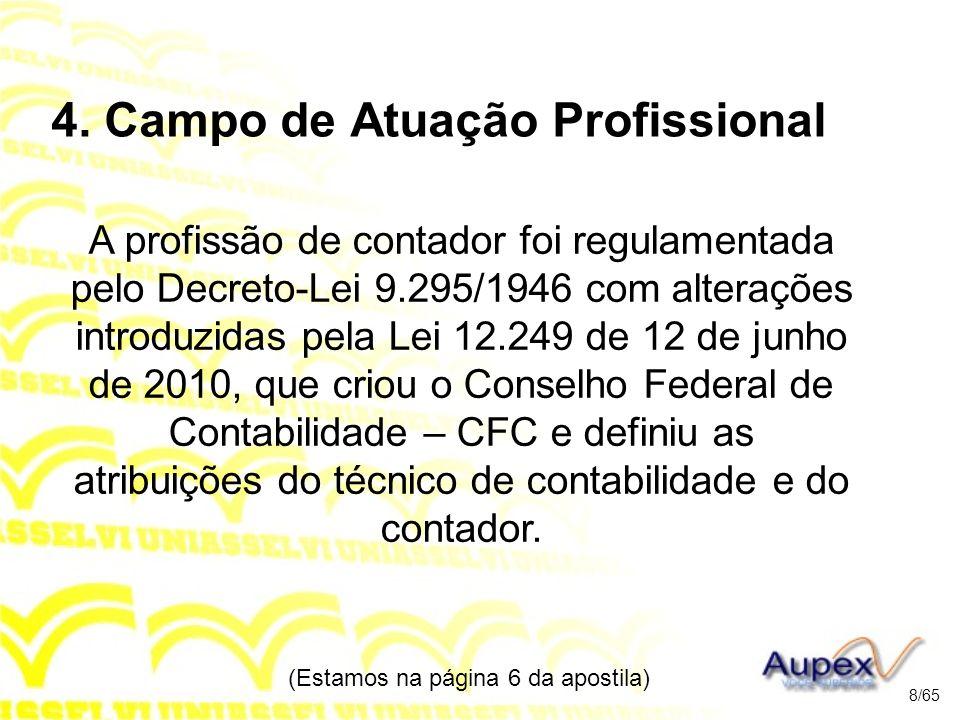 4. Campo de Atuação Profissional