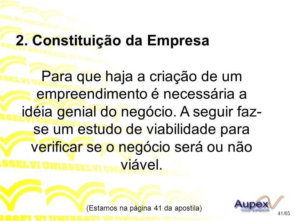 2. Constituição da Empresa