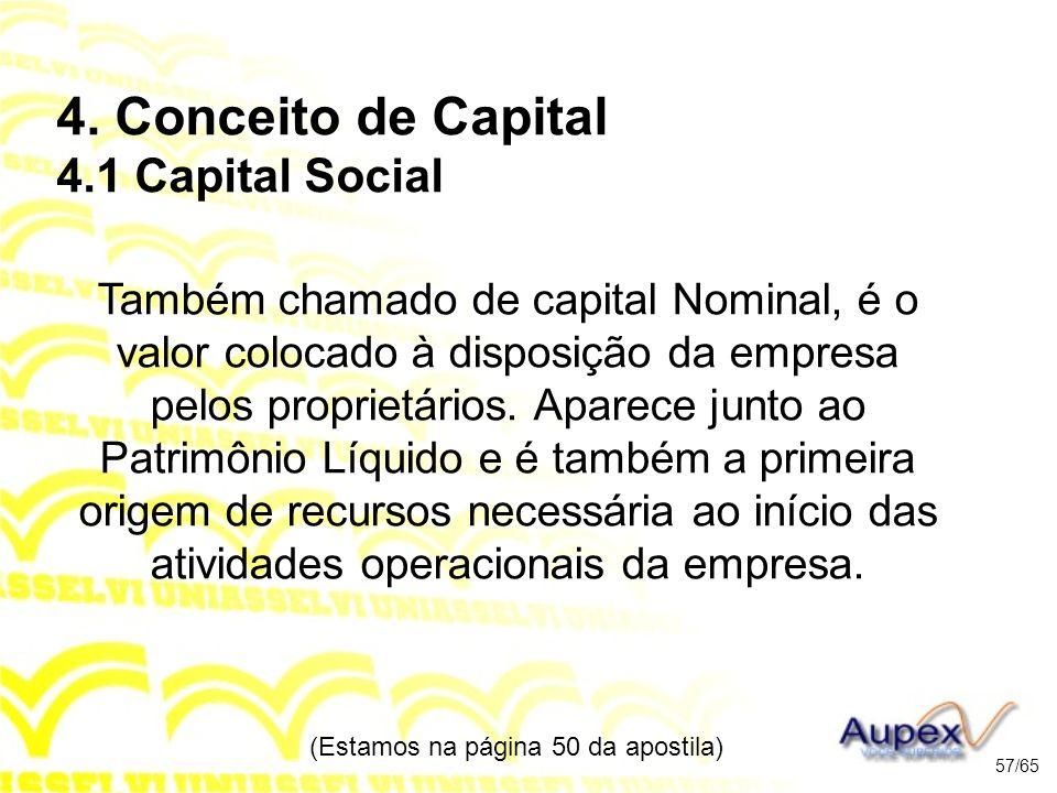 4. Conceito de Capital 4.1 Capital Social
