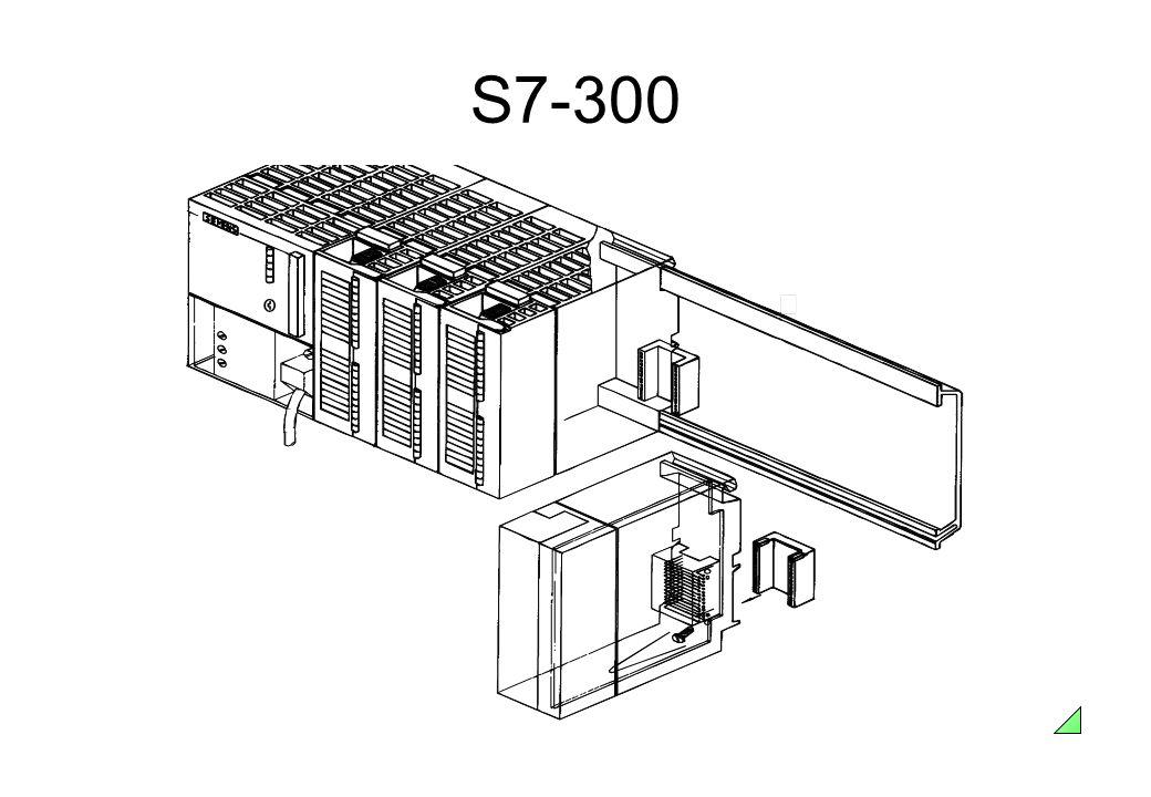 S7-300 Características • Sistema de controle modular de pequeno porte;