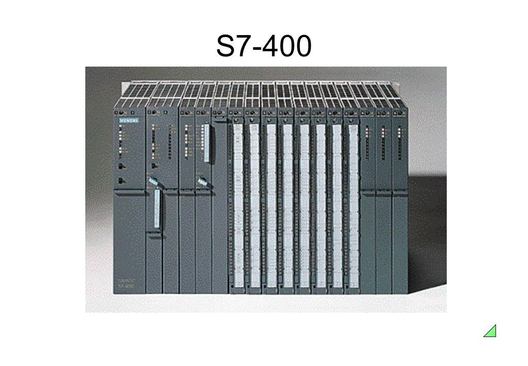 S7-400 Características • Poderoso PLC, de médio a grande porte;