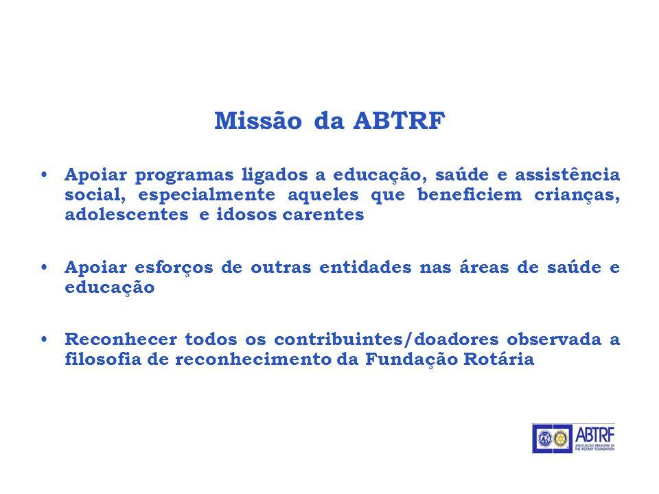 Missão da ABTRF ABTRF - Associação Brasileira da The Rotary Foundation